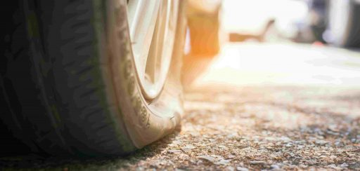 rueda pinchada