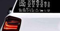 Pegatina coche familia